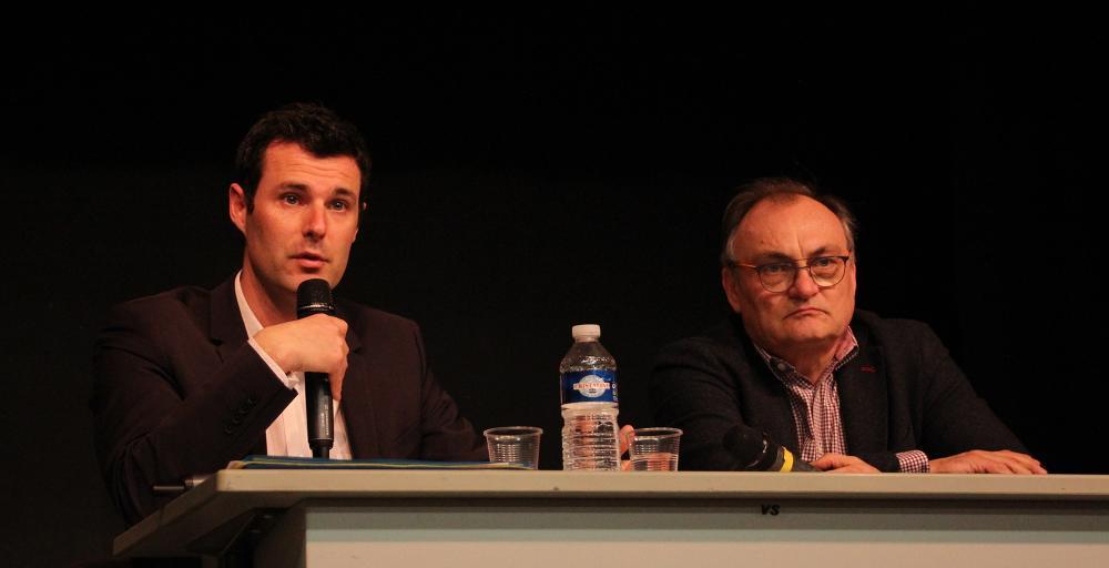 Eric Fabbris, directeur des opérations des restaurants de Versailles (à gauche) et Philippe Poncet, franchisé McDonald's (à droite)