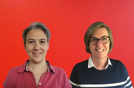 Anne-Sophie Borrel et Gaetane de Villemeur